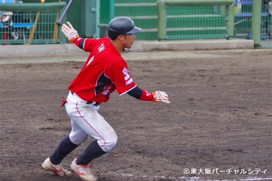 散髪して気分一新、田井友人。2安打2四球とチャンスを導く