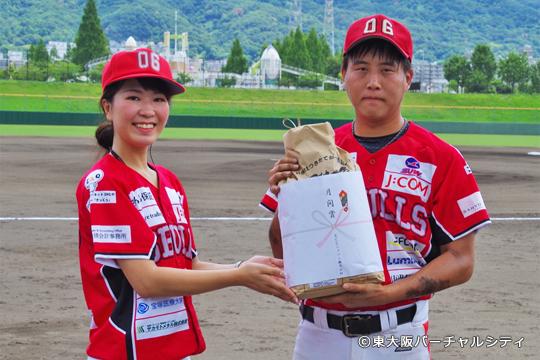 RCC japanさんからは田中投手へ 06ブルズ 2017年6月度月間賞