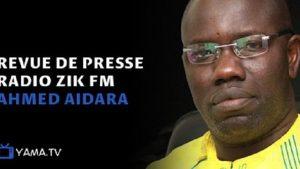 Revue de presse Ahmed Aidara du jour