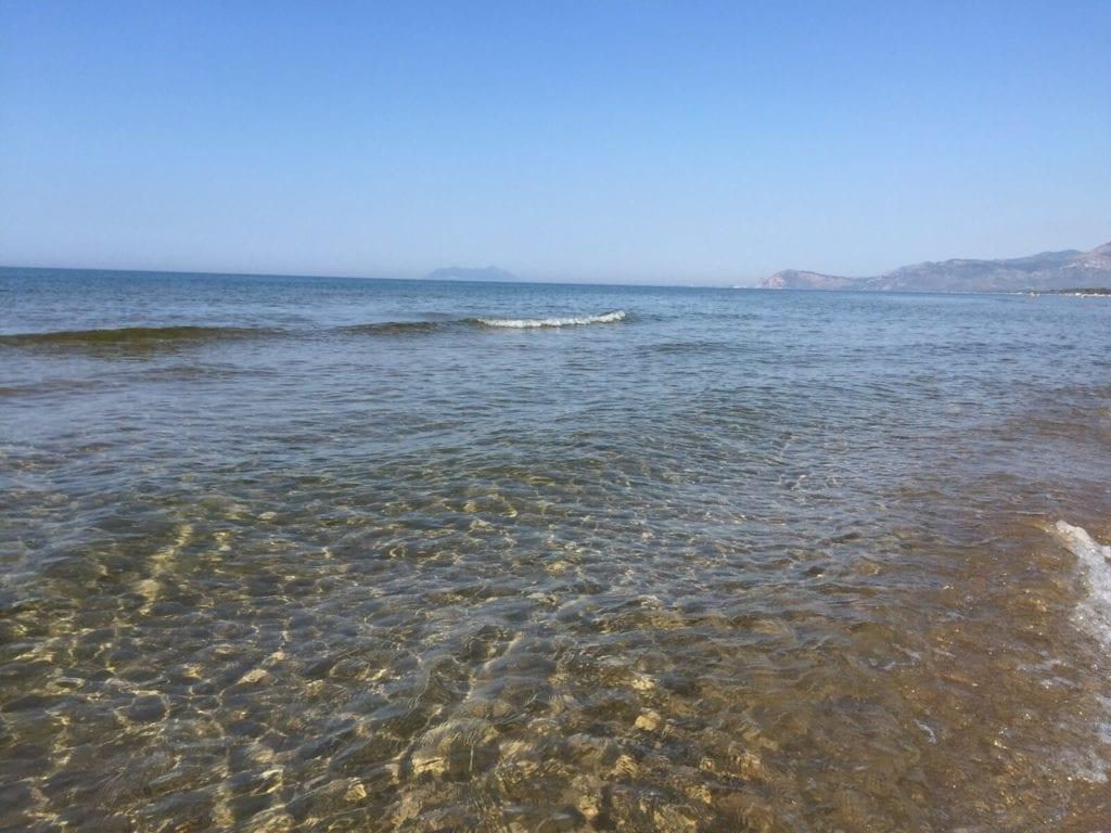 Il mare di Sperlonga  cristallino lo confermano le