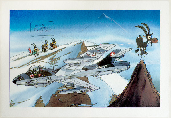J'ai au moins gagné un truc positif quand l'Axalp 2013 a été annulé. dessin Jean Barbaud, texte d'après Frédéric Marsaly