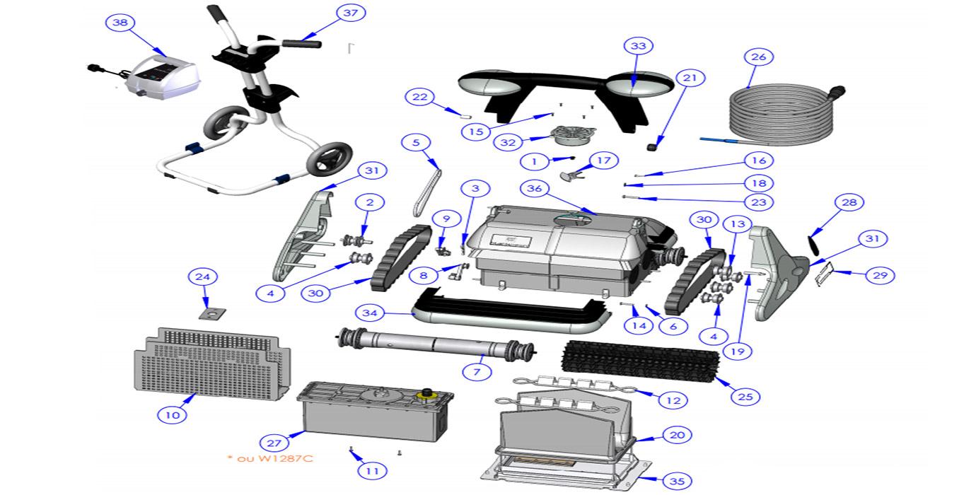 H2o Piscines  Spas  Pices dtaches  Robots et Balais  ZODIAC BLACK PEARL