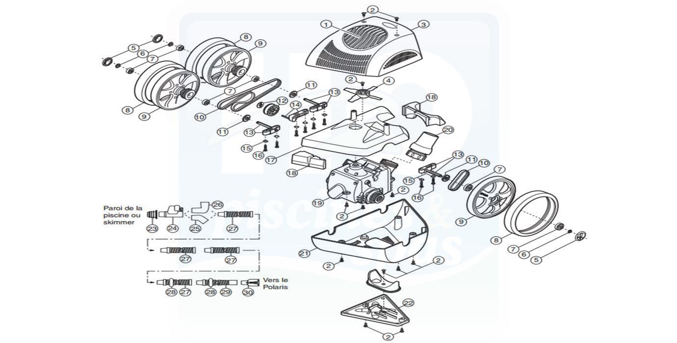 Pièces détachées piscines : Robots hydrauliques, POLARIS