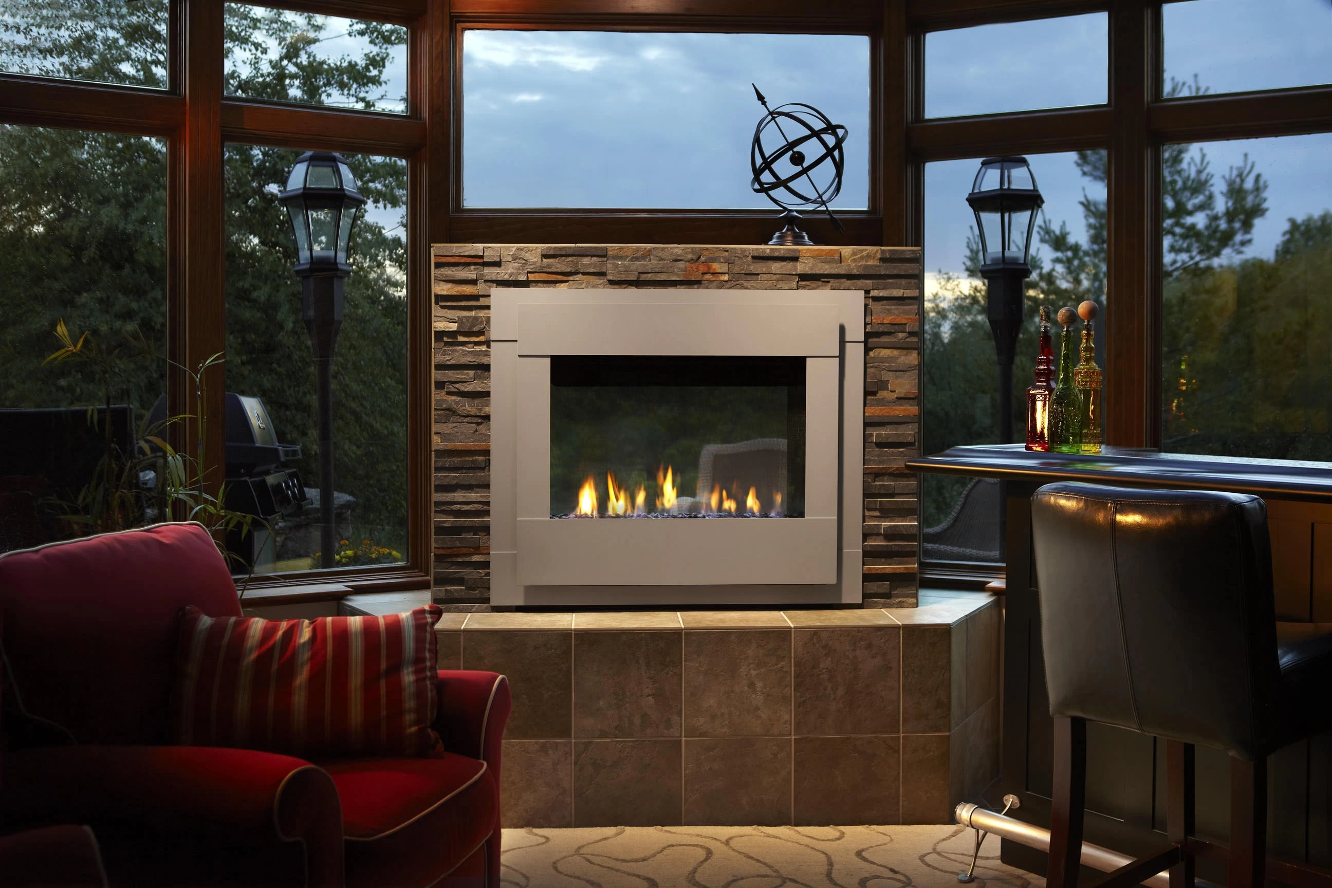 Heat  Glo  Twilight Modern Outdoor Gas Fireplace  H2Oasis