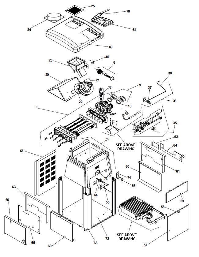 Jandy Swimming Pool Heater Parts Breakdown LX & LT