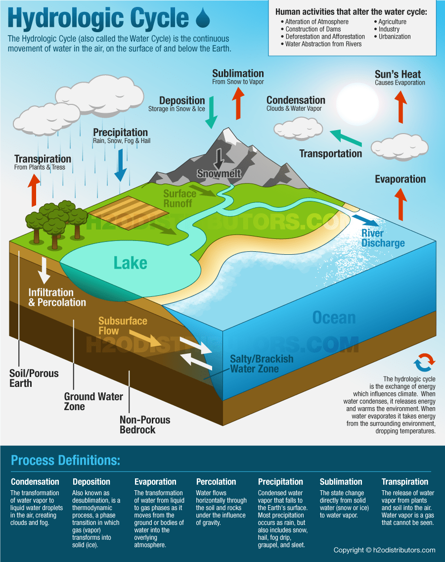 the hydrologic cycle water