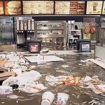 photo: still image from the Flooded McDonalds film by Superflex (Denmark)