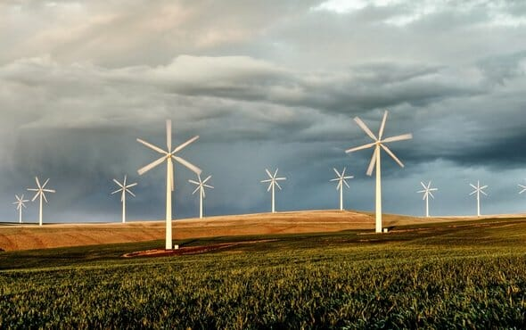 photo: wind farm energy may save a lot of water. Renewable Energy Saves Water and Creates Jobs