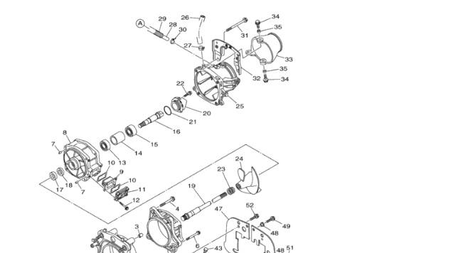 Kit revisione pompa idrogetto moto d'acqua YAMAHA VX SPORT