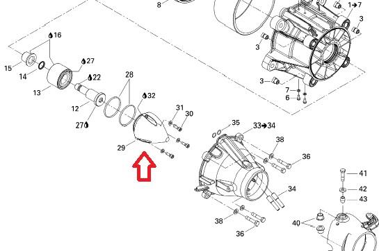 Cono pompa elica idrogetto sea doo rxp, cover impeller rxt