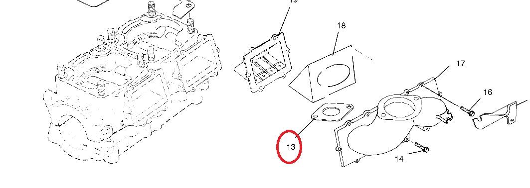 Guarnizione collettore carburatore polaris 5830043