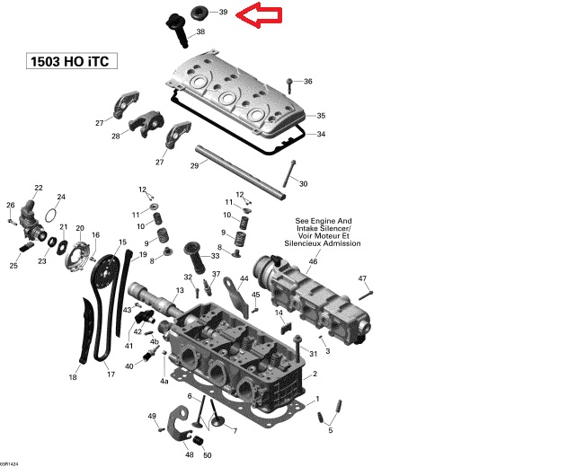 gommino bobina pipetta candele Sea doo 4 tempi 1500 RXP RXT