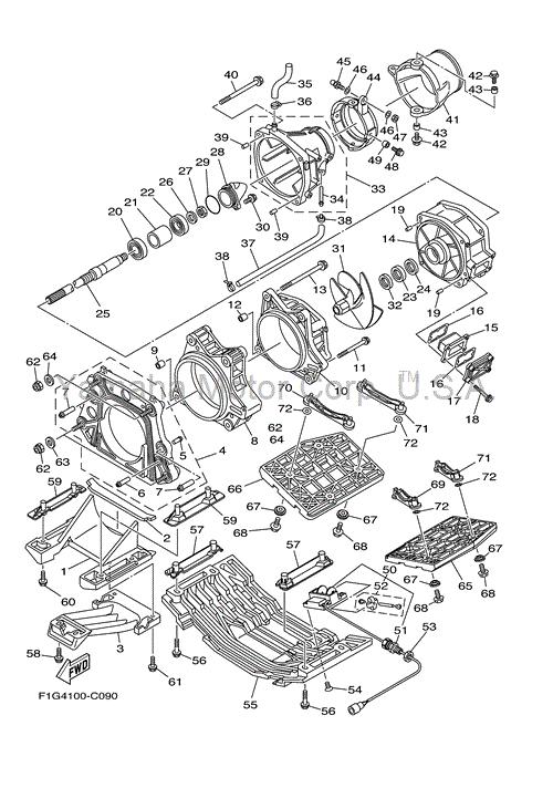Kit revisione idrogetto moto d'acqua YAMAHA GP 1200r ,GP1300r
