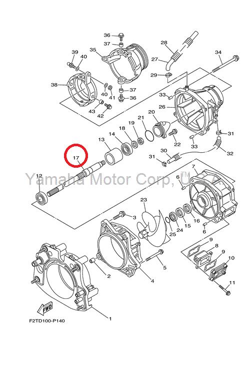 Asse di trasmissione, drive shaft moto d'acqua Yamaha 1800