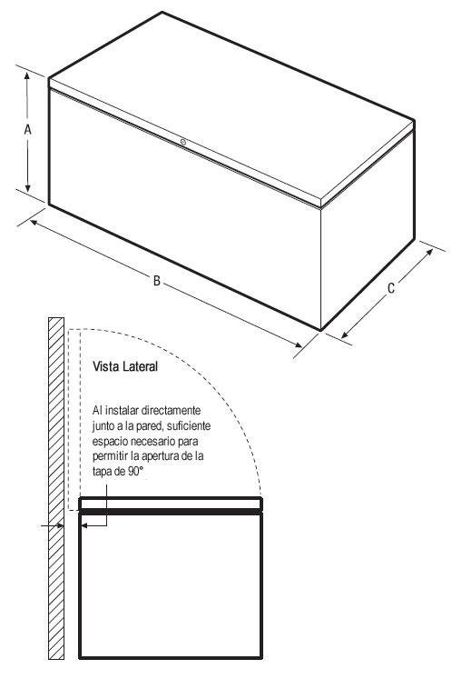 congelador horizontal 20 pies c u00dabicos marca frigidaire mod