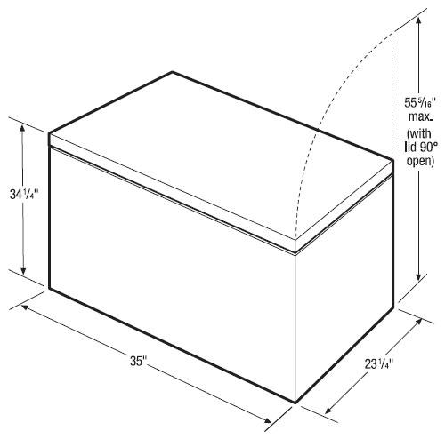 congelador horizontal 7 pies c u00dabicos marca frigidaire mod