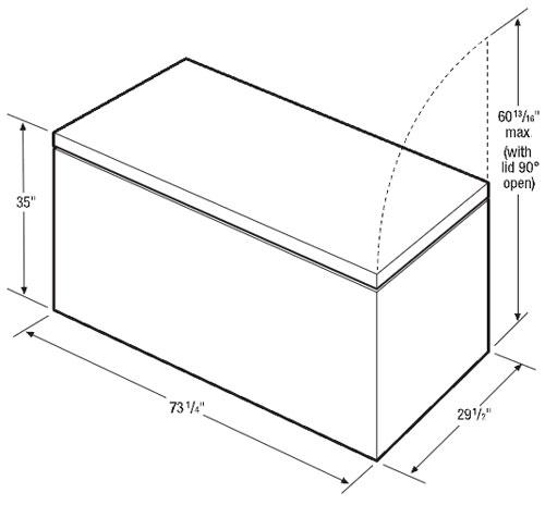 congelador horizontal 25 pies c u00dabicos marca frigidaire mod