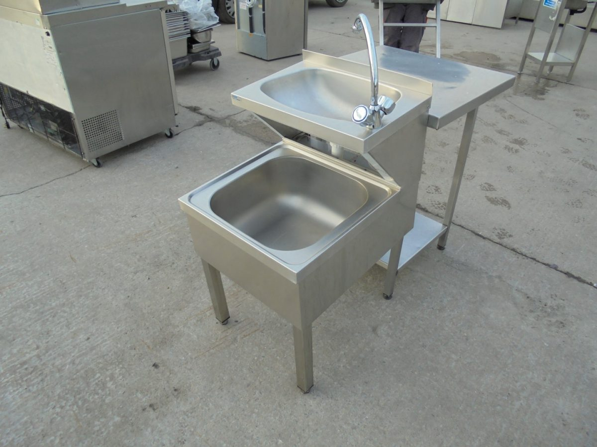 Used Stainless Steel Double Janitor Sink Handwash Sink