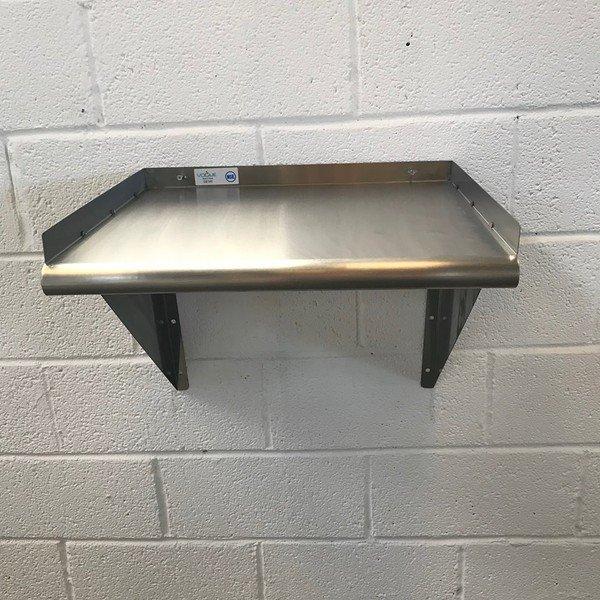 new vogue ge145 stainless steel microwave shelf 56cmw x 48cmd x 49cmh