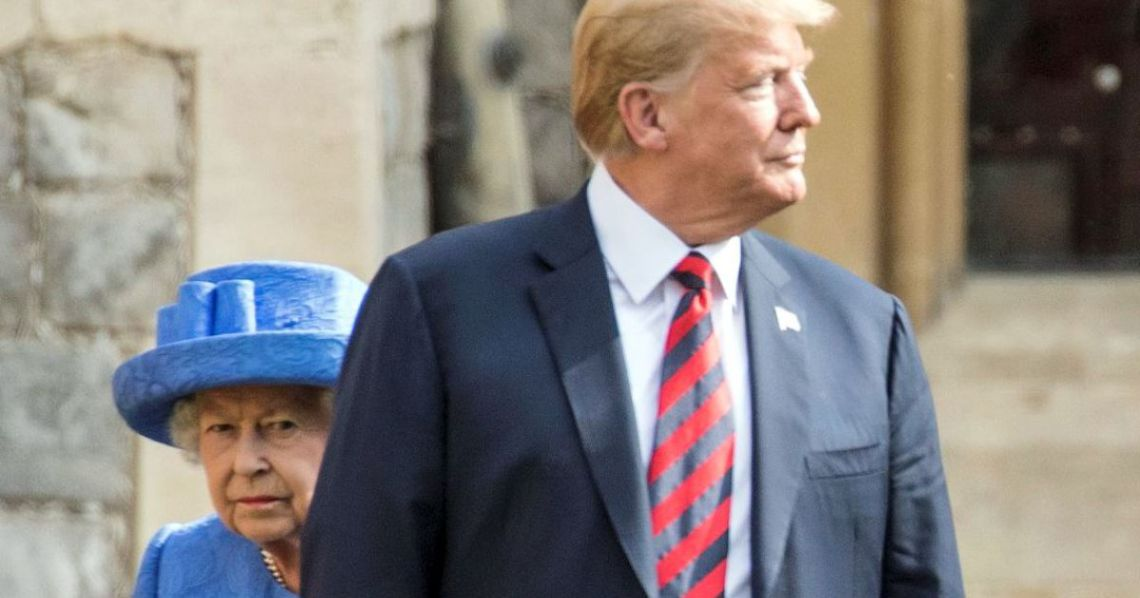 Trump Shocks the U.K. by 'Cutting Off' Queen Elizabeth