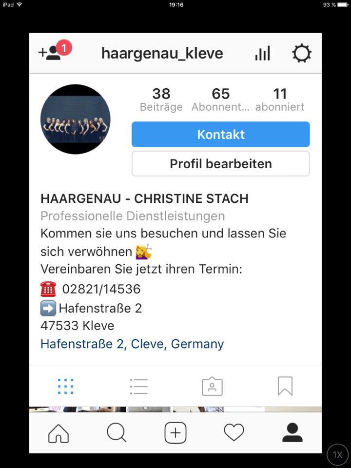 Haargenau Instagram