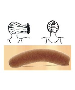 Knotenrolle braun - groß mit Gummiband