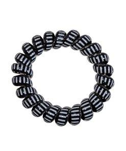dicker Zopfhalter aus Kunststoff mit schwarz weissem Muster