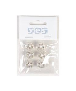 Haarspiralen 6 Stück als Strassblüte mit Perle
