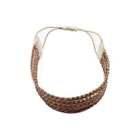 Haarband aus geflochtenem Kunsthaar vierreihig mittelblond hellbraun