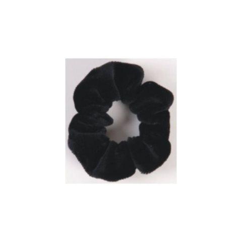 Samt-Haar-Rüsche schwarz klein
