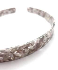 Haarreifen marmoriert grau Detail