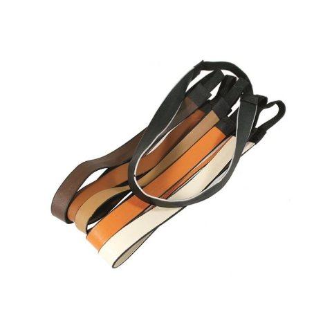 Haarbänder aus echtem Leder in brau, cognac, hellbraun, orange, weiss und schwarz