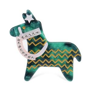 Kleines Pferd Haarspange grün
