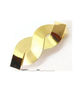 Haarspange gold zwei verschlungene Teile