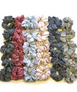 Scrunchies gestreift in fünf Farben