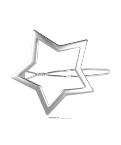 Seitenspange Stern silber