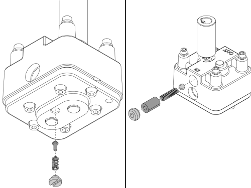 small resolution of machines made before march 2015 remove the filter retaining ring 1 and filter screen 2 from the bottom of the tsc pump assembly
