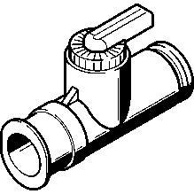 Festo kulventil för 4mm slang