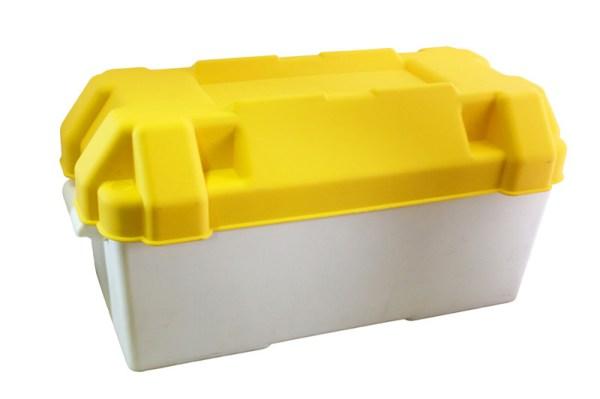 Accubak 200x410x200 deksel geel