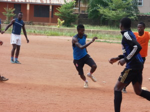 Efe Obasuyi in action