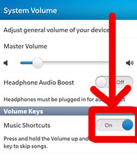 How To Use Music Shortcuts On The BlackBerry Z10