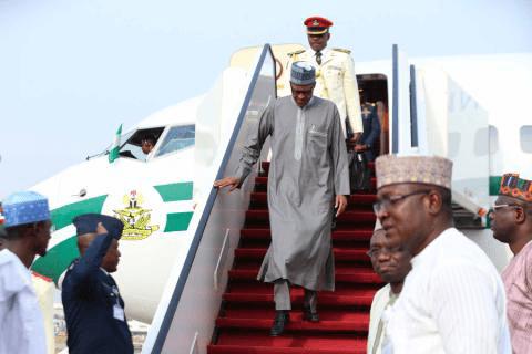 PRESIDENT MUHAMMADU BUHARI RETURNS TO NIGERIA. (PHOTOS)