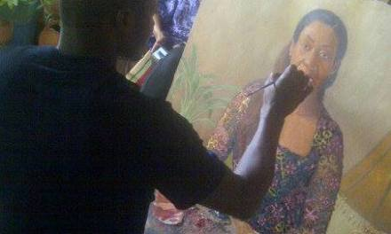 PHOTOS: See One Of The Greatest Artist In Nigeria (Oresegun Olumide)