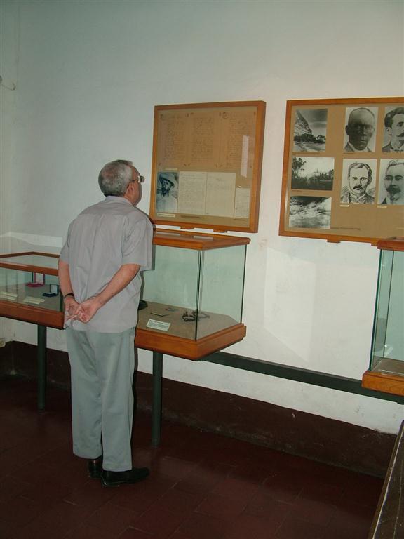 Eusebio Leal en la Casa natal de José Martí