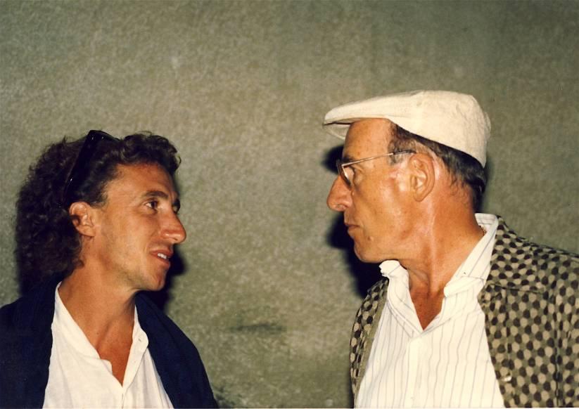 Stefano Cavallini e Gil Cuppini in giuria a Barga Jazz del 1989