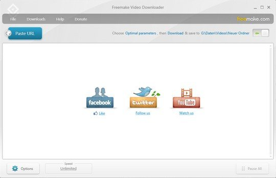 Freemake video downloader: Paste the link page ...