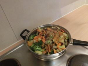 Abdoulie's Vegetable Mix: Adding spices