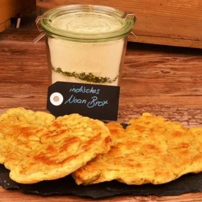 Koriander Naan Brot als Backmischung im Glas