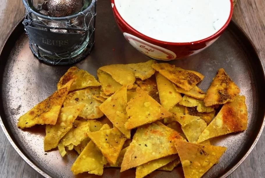 Tortilla Chips mit Dip alles selbstgemacht