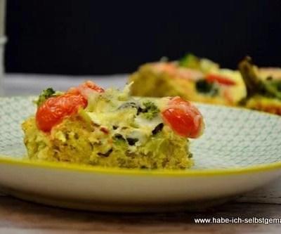 Tarte mit Quinoa und Broccoli